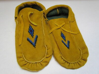 Hand beaded moccasins, moose hide leather, traditional stunning unique 10.5 inch