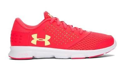 Girl's Youth UNDER ARMOUR RAVE RUN Hot Pink Running Casual Shoes 1285435 NEW