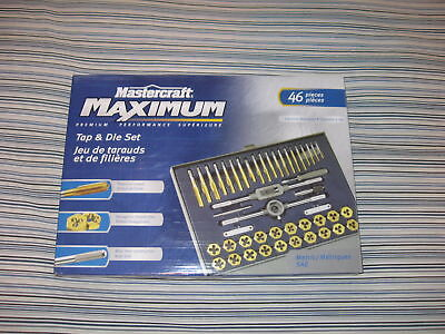(2) Mastercraft 46 Piece Titanium Coated Tap + Die Sets.