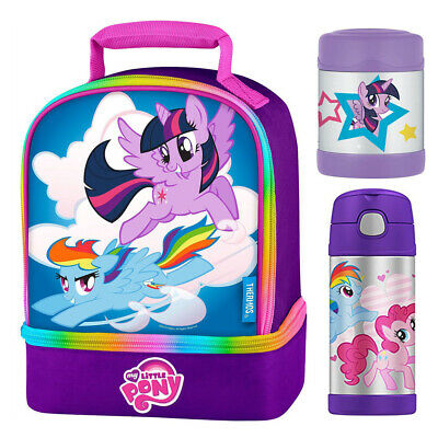 Thermos Funtainer My Little Pony Lunch Bag Kit w/ 12oz Bottle, 10oz Food Jar