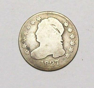 1827 CAPPED BUST DIME G- OBVERSE  AG-REVERSE *Free U.S. Shipping  #25 B2