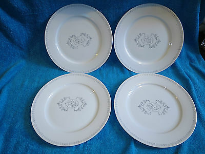 UNUSED ROYAL WORCESTER  Essentials REGENCY 4 X 10.5 INCH PLATES GREY / WHITE