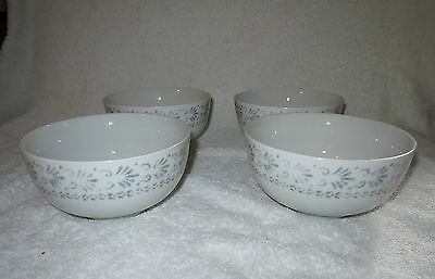 NEW ROYAL WORCESTER  Essentials REGENCY   4 X  BOWLS GREY / WHITE
