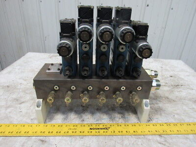 Rexroth Hydraulic Control Block Assembly W/Valves & Manifold