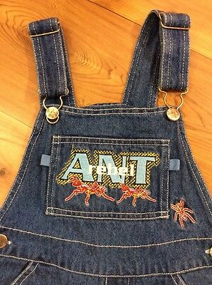 A bugs Life Kids Denim Short Overalls Size 5 Ant Rebel Graphic Jean Jumper
