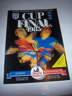 1985 FA CUP FINAL - EVERTON v MANCHESTER UNITED - FOOTBALL PROGRAMME