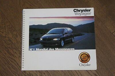 (124A) Catalogue information presse Chrysler Voyager 1996