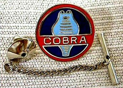 Shelby Mustang Cobra Tie Tack Pin and Chain Clasp