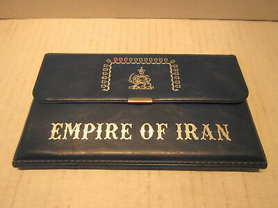 1971 Empire Of Iran 5 Coin Proof Set .999 Silver Coins Rials With Coa