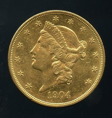 1904 United States Gold Liberty Head Double Eagle $20 Coin RN255