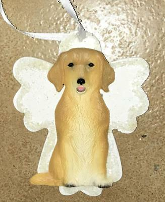 Golden Retriever 3D Dog Christmas Angel Ornament Gift Holiday