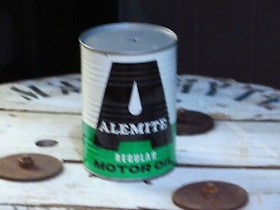 Vintage Alemite 1 quart Regular Motor Oil Can collector condition