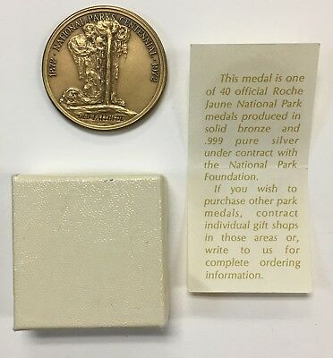 {BJSTAMPS} Roche Jaune Inc Bronze Medal Old Faithful Yellowstone National Park