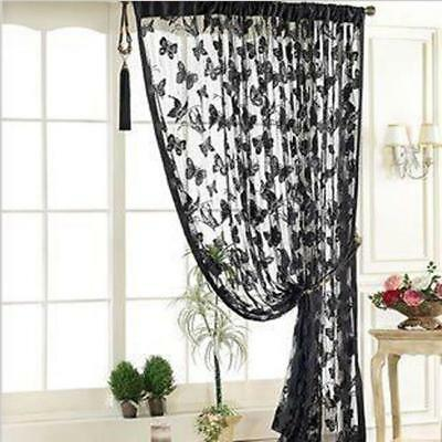 Floral Tulle Voile Door Window Curtain Drape Panel Sheer Scarf Valances HOT LD