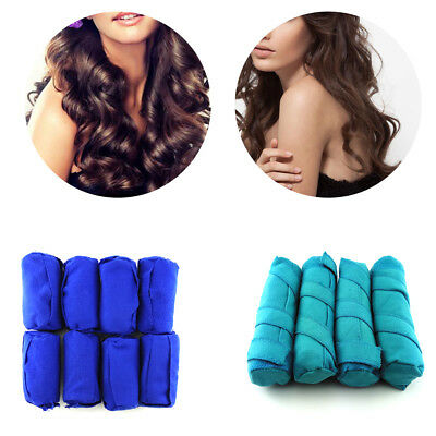 8-16pcs Sleep Soft Hair Care Rollers Styler No Heat Hair Curls Tool Fr Long Hair