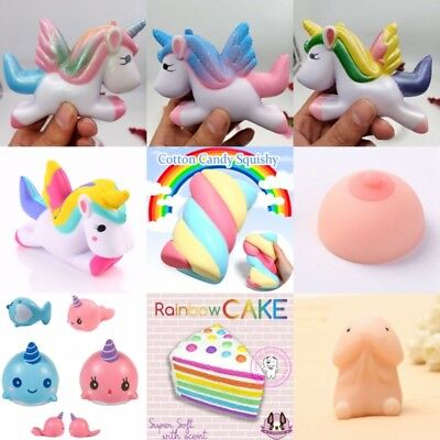 Lot Jumbo Squishy Super Soft Slow Rising Squeeze Toy Pressure Relief Kids  Toys