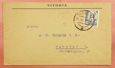 1937 Spain Vitoria Cancel Civil War Censored Cover To Germany