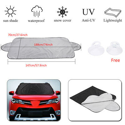 Car SUV Windshield Window Visor Cover Sun Shade Snow Ice Dust Protector Foldable