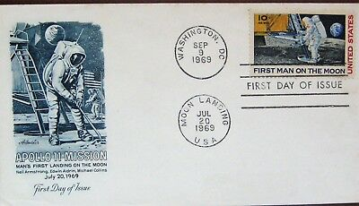 Apollo 11  First Man On The Moon Fdc As Photo