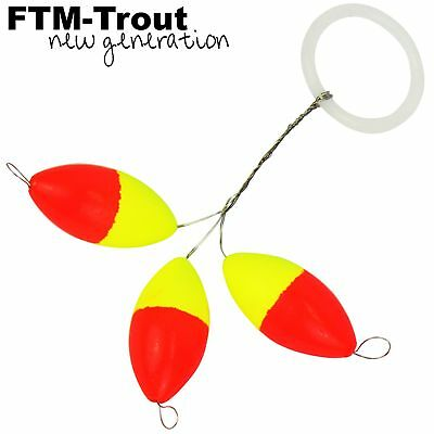 4 SPRO Trout Master Ghost Float Weight Olive 3g 3,8cm Posen Angelpose Pose