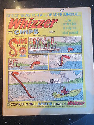 Whizzer and Chips Vintage Old UK Paper COMIC 12 July 1975 Birthday Gift