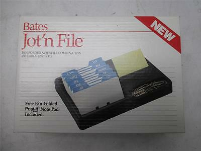 NEW Bates Jot'n File Rolodex 250 Cards Post-it Notepad Office Desk Organizer