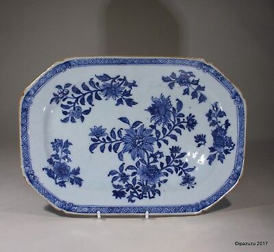 Antique Chinese Blue & White Meat Dish