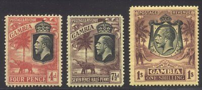 GAMBIA #121-23 Mint - 1922 K G V Issue ($50)