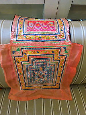 Vintage Hmong Hill Tribes baby carrier Quilt Applique Textile Wall Art Cushion 3