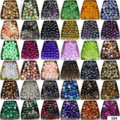 4mm 6mm 8mm 10mm Natural gemstone Round Stone spacer beads For Jewelry Making