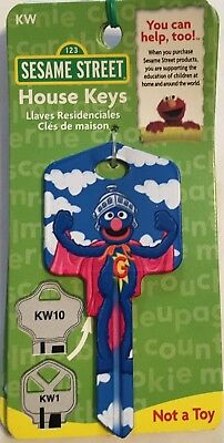 The Muppets Flying Grover Key Blank-Kw1-Kw10