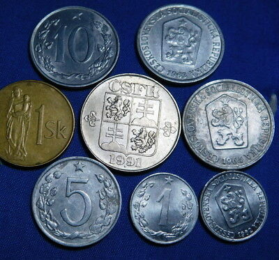 11x OLD CZECHOSLOVAKIA  COINS LOT   SEE THE PICTURES  A23-344