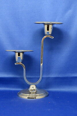 Vintage Silver Plated Candlestick By Cavalier England