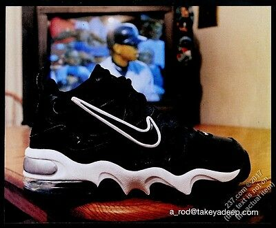 1997 Nike A-Rod black and white shoes photo vintage print ad