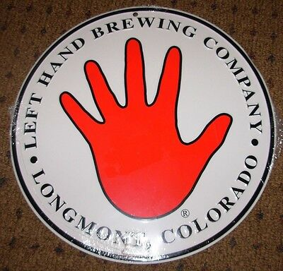 LEFT HAND BREWING COMPANY METAL TACKER SIGN craft beer brewery milk stout nitro