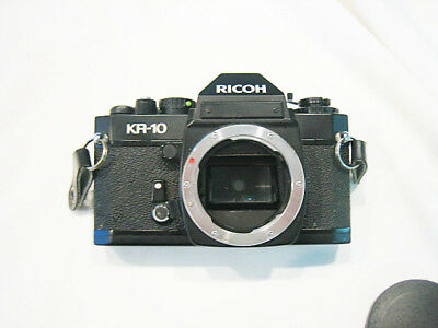 RICOH KR-10 35mm SLR camera body & orig. box and owners manual