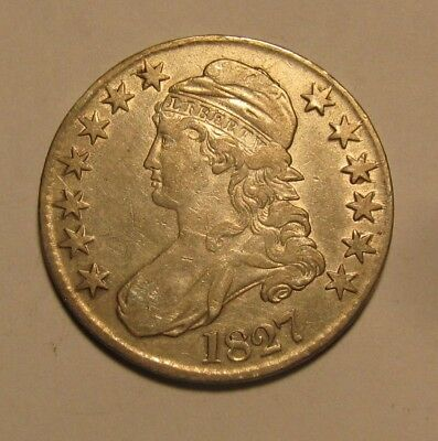 1827 Capped Bust Half Dollar - Extra Fine Condition - 135SA