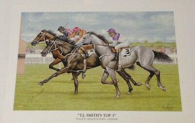 Horse Racing 'T.J. Smith's Top 3' Tulloch Kingston Town Gunsynd Limited Print