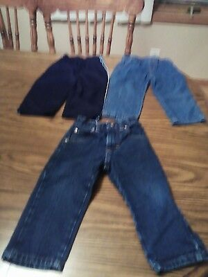 lot of 3 pairs of infant boy pants size 24 months