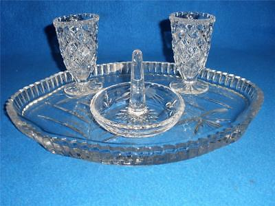 Retro Vintage Crystal Vanity Dresser Set No.3.