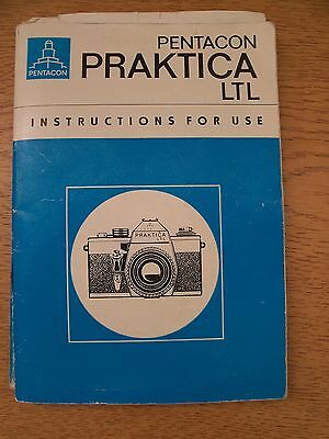 Instructions CAMERA PRAKTICA LTL Pentacon CD/Email
