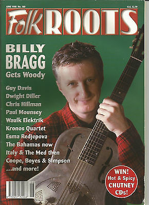 Folk Roots fRoots magazine 180 June 1998 Billy Bragg sings Woody Guthrie