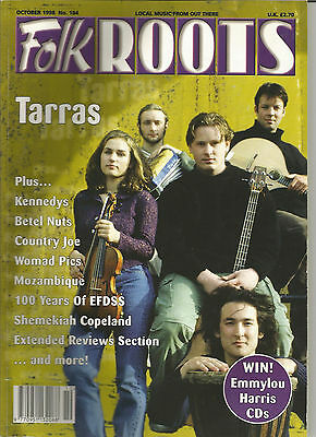 Folk Roots fRoots magazine 184 October 1998 Tarras Kennedys Country Joe