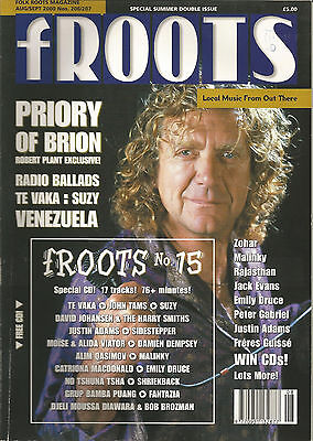 Froots Folk Roots magazine 206/7 Aug/Sep 2000 Double Issue with CD Robert Plant