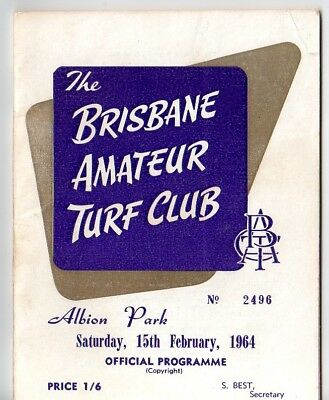 Rare 1964 Batc The Brisbane Amateur Turf Club Albion Park Racebook