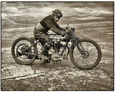 1925 Vintage Norton Racing Photo Cool Motorcycle Racer Bert Denly Isle Of Man Tt