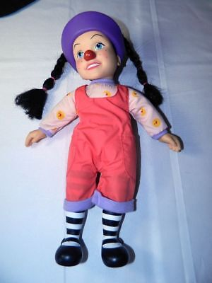 "Big Comfy Couch Loonette 15"" Non Talking Clown Doll Pigtails"