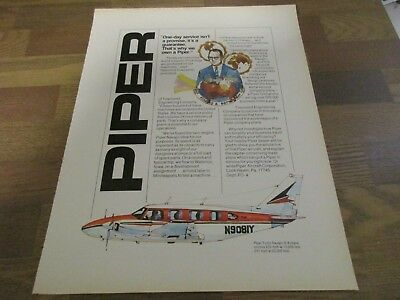 Piper Aircraft Turbo Navajo - Raymond Townsend Corporation  1970 Print Ad