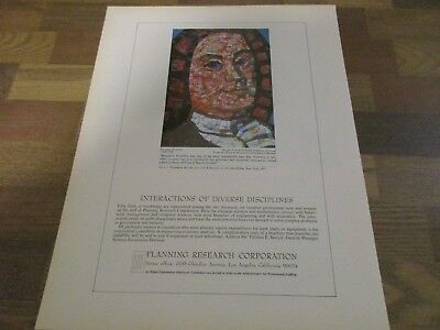 Planning Research Corporation - Benjamin Franklin Mosaic Art 1970 Print Ad