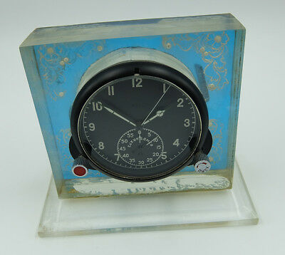 60 ChP Soviet USSR Military AirForce Aircraft Cockpit Clock (Achs) #40268